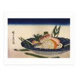 江戸前寿司, 広重 Sushi Bowl, Hiroshige, Ukiyoe