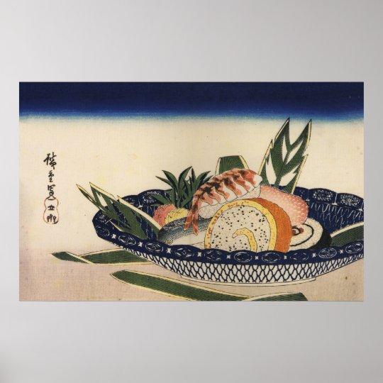 江戸前寿司, 広重 Sushi Bowl, Hiroshige, Ukiyoe Poster