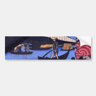 江戸 風景 広重 Scenery of Edo Hiroshige Ukiyoe Bumper Stickers