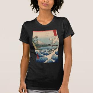 波と富士山, 広重 Wave and Mount Fuji, Hiroshige T Shirt