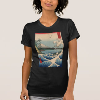 波と富士山, 広重 Wave and Mount Fuji, Hiroshige T-Shirt
