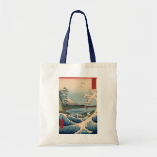 波と富士山, 広重 Wave and Mount Fuji, Hiroshige Tote Bag