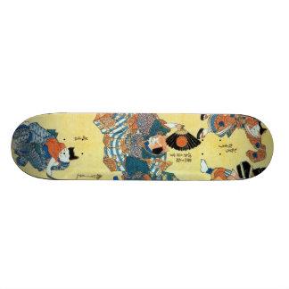 流行猫の狂言づくし, 国芳 Actors of The Cat, Kuniyoshi, Ukiyoe 21.6 Cm Skateboard Deck