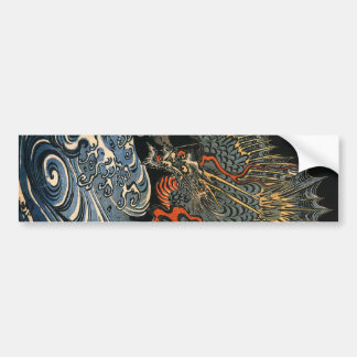 海龍, 国芳, Sea Dragon, Kuniyoshi, Ukiyo-e Bumper Sticker