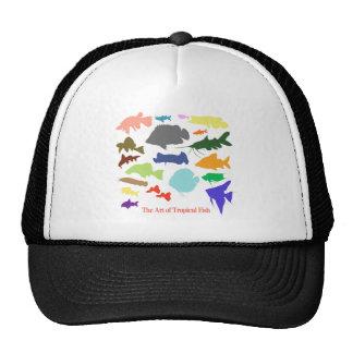 淡水性熱帯魚 カラー 影絵 優良製品 メッシュ帽子