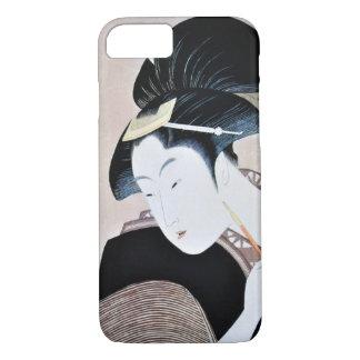 深く忍恋,歌麿 Deeply Hidden Love, Utamaro, Ukiyoe iPhone 8/7 Case