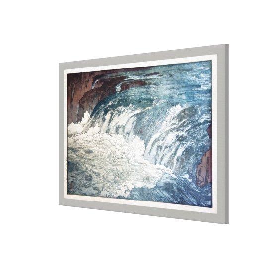渓流, Rapids, Hiroshi Yoshida, Woodcut Canvas Print