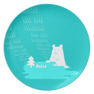 湖と森の主くまさんder Bar vom Waldお皿 Party Plate