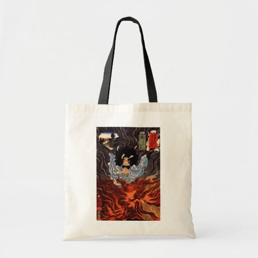 火の男, 国芳 Man of The Fire, Kuniyoshi, Ukiyo-e Canvas Bag