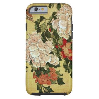 牡丹に蝶 Peonies Butterfly 葛飾北斎 Katsushika Hokusai Tough iPhone 6 Case
