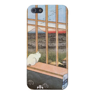 猫と富士山, 広重 Cat and Mount Fuji, Hiroshige iPhone 5 Covers