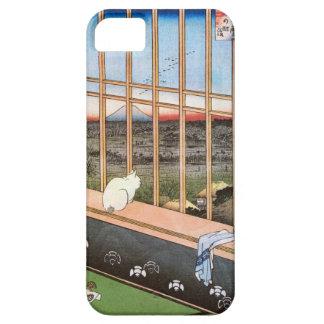 猫と富士山, 広重 Cat and Mount Fuji, Hiroshige, Ukiyo-e iPhone 5 Case