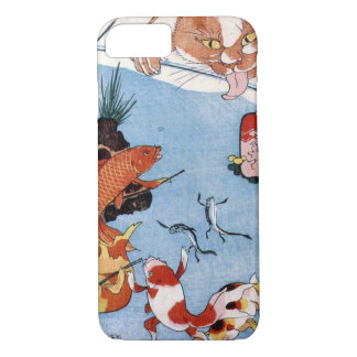 猫と金魚, 国芳 Cat and Goldfish, Kuniyoshi, Ukiyo-e iPhone 8/7 Case