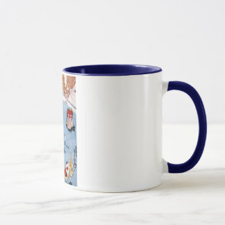 猫と金魚, 国芳 Cat and Goldfish, Kuniyoshi, Ukiyo-e Mug