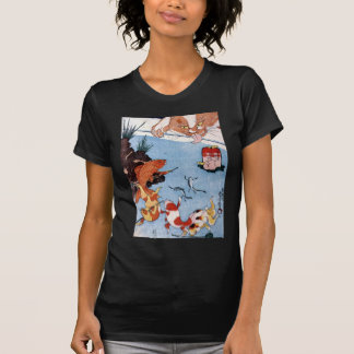 猫と金魚, 国芳 Cat and Goldfish, Kuniyoshi, Ukiyo-e T-Shirt