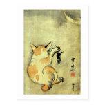 猫と鼠, 暁斎 Cat and Mouse, Kyōsai, Ukiyo-e