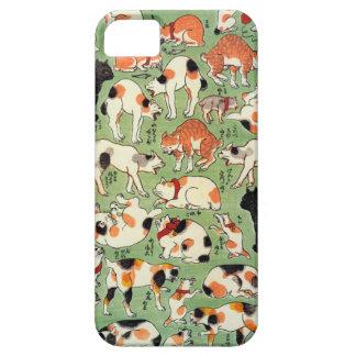 猫尽両めん合 芳藤 Cats of The Edo era Yoshifuji Ukiyo-e iPhone 5 Cover