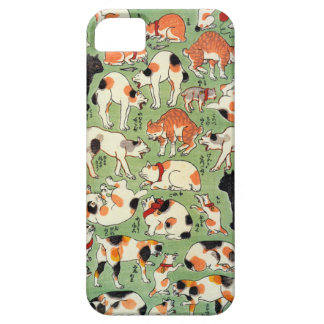 猫尽両めん合, 芳藤 Cats of The Edo era, Yoshifuji, Ukiyo-e iPhone 5 Cases