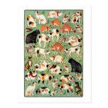 猫尽両めん合, 芳藤 Cats of The Edo era, Yoshifuji, Ukiyo-e Post Cards