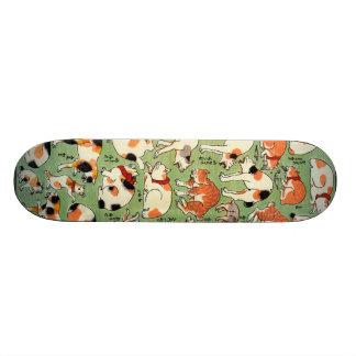 猫尽両めん合, 芳藤 Cats of The Edo era, Yoshifuji, Ukiyo-e Skate Board Decks