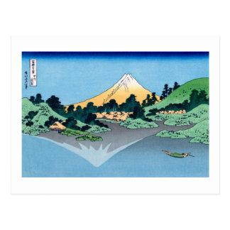 甲州三坂水面 Lake Kawaguchi Hokusai葛飾北斎 Post Cards