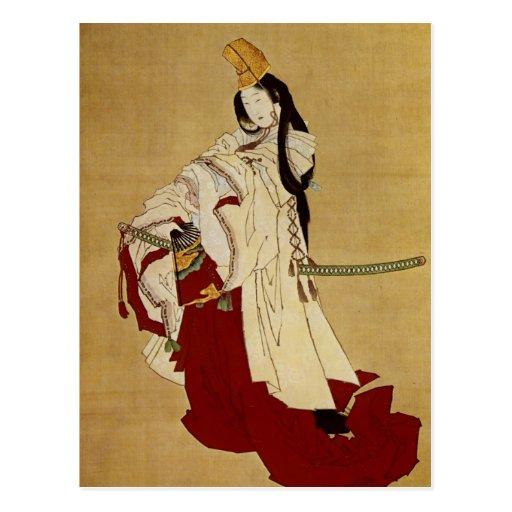 白拍子 Shirabyōshi 葛飾北斎 Katsushika Hokusai Postcard