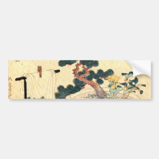 盆栽, 北斎 Bonsai, Hokusai, Ukiyo-e Bumper Sticker