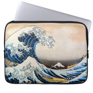 神奈川沖浪裏, 北斎 Great Wave, Hokusai, Ukiyo-e Laptop Computer Sleeve