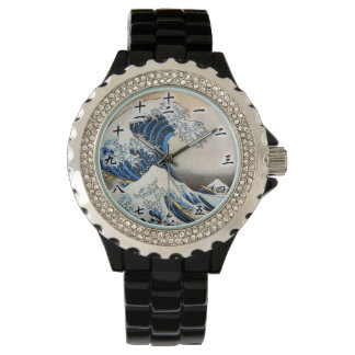 神奈川沖浪裏, 北斎 Great Wave, Hokusai, Ukiyo-e Wrist Watch