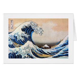 神奈川沖浪裏, 北斎 Great Wave, Hokusai, Ukiyoe Card