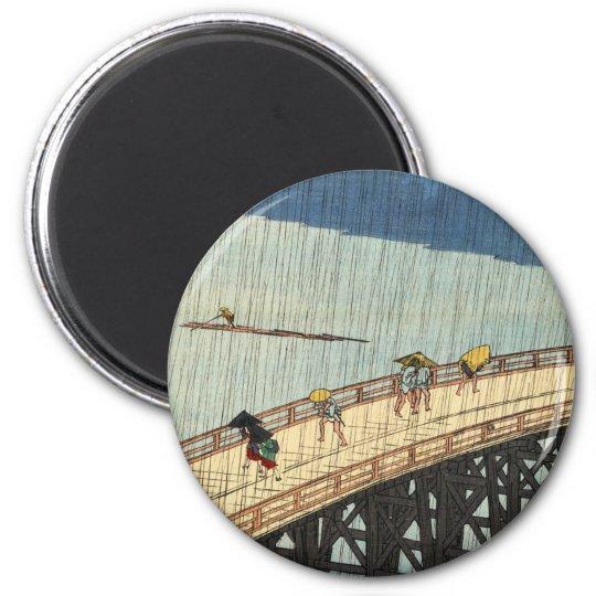 突然の雨, 広重 Sudden Rain, Hiroshige Magnet