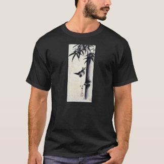 竹に雀, 歌川広重 Bamboo & Sparrow, Hiroshige, Sumi-e T-Shirt