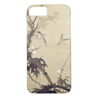 竹に鳥, 其一 Bird and Bamboo, Kiitsu, Japan Art iPhone 8/7 Case