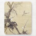 竹に鳥, 其一 Bird and Bamboo, Kiitsu, Japan Art Mouse Mat