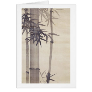 竹, 其一 Bamboo, Kiitsu, Japan Art Card