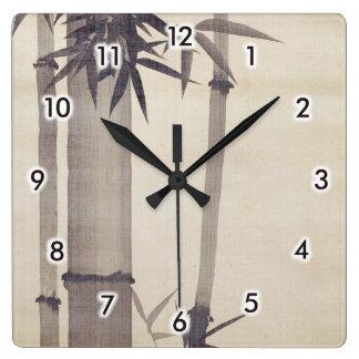 竹, 其一 Bamboo, Kiitsu, Japan Art Square Wall Clock