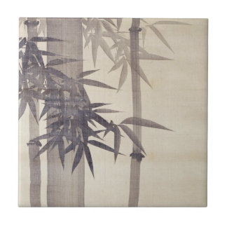 竹, 其一 Bamboo, Kiitsu, Japan Art Tile