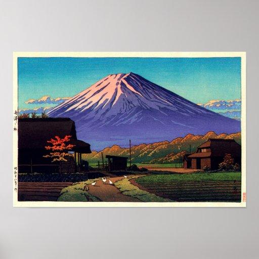船津の富士, Mt. Fuji from Funatsu, Hasui Kawase Poster