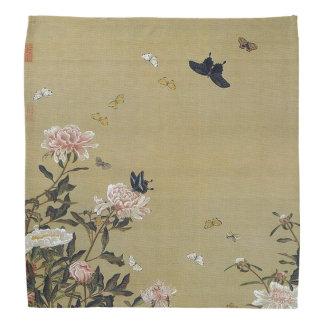 芍 medicine group butterfly figure Shakuyaku Do-rags