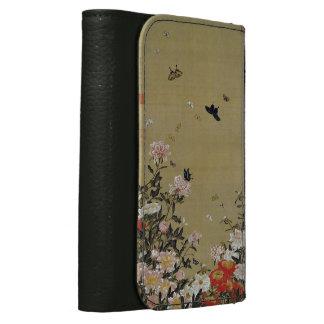 芍 medicine group butterfly figure Shakuyaku Leather Wallet