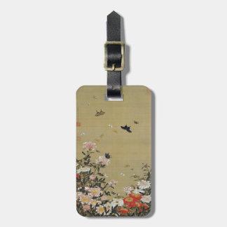 芍 medicine group butterfly figure Shakuyaku Luggage Tag