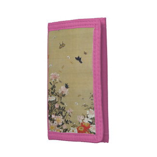 芍 medicine group butterfly figure Shakuyaku Tri-fold Wallet