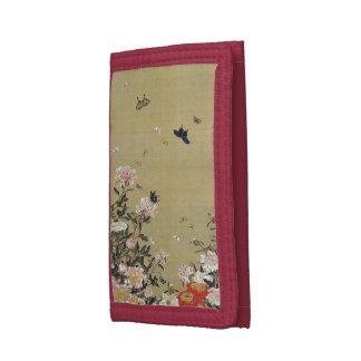 芍 medicine group butterfly figure Shakuyaku Tri-fold Wallets