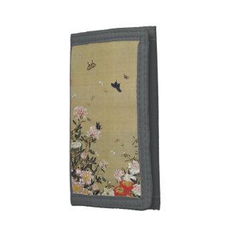 芍 medicine group butterfly figure Shakuyaku Trifold Wallet