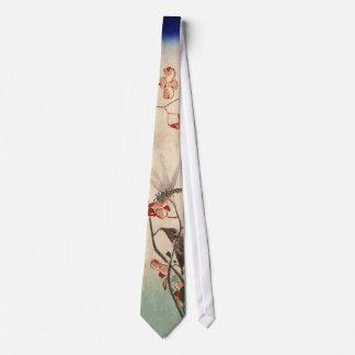花にトンボ, 広重 Dragonfly and Flower, Hiroshige, Ukiyo-e Tie