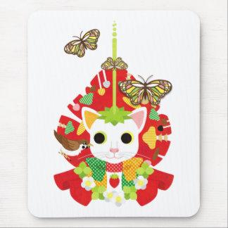 苺大福(Strawberry Daifuku) マウスパッド