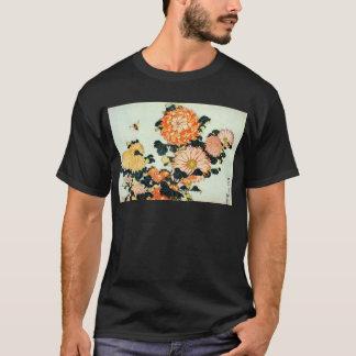 菊と蜂, 北斎 Chrysanthemum and Bee, Hokusai T-Shirt
