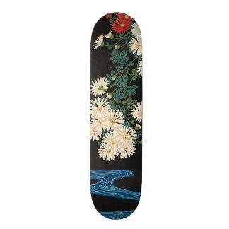 菊に流水, 古邨 Chrysanthemums & Stream, Koson, Ukiyo-e 20.6 Cm Skateboard Deck