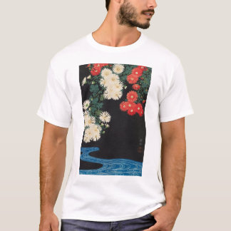 菊に流水, 古邨 Chrysanthemums & Stream, Koson, Ukiyo-e T-Shirt