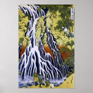 葛飾北斎 Kirifuri Waterfall Hokusai Poster